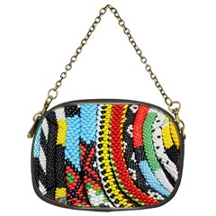 Multi-Colored Beaded Background Single-sided Evening Purse