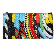 Multi-Colored Beaded Background Pencil Case