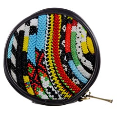 Multi Colored Beaded Background Mini Makeup Case
