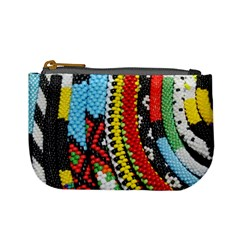 Multi-Colored Beaded Background Coin Change Purse