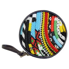 Multi Colored Beaded Background Cd Wallet