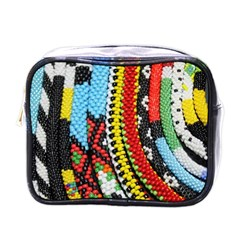 Multi-Colored Beaded Background Single-sided Cosmetic Case