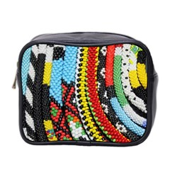 Multi Colored Beaded Background Twin Sided Cosmetic Case