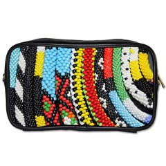 Multi-Colored Beaded Background Twin-sided Personal Care Bag