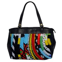 Multi Colored Beaded Background Single Sided Oversized Handbag