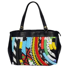 Multi-Colored Beaded Background Twin-sided Oversized Handbag