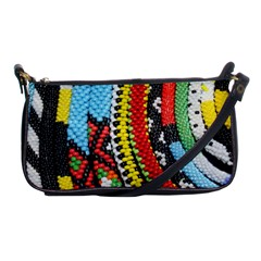 Multi Colored Beaded Background Evening Bag