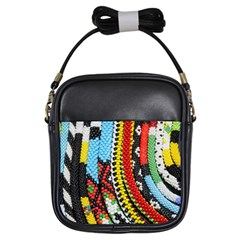 Multi-Colored Beaded Background Kids  Sling Bag