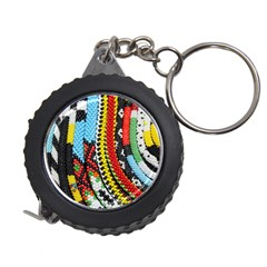 Multi-Colored Beaded Background Measuring Tape