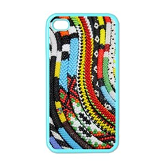 Multi Colored Beaded Background Apple Iphone 4 Case (color)