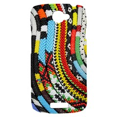 Multi-Colored Beaded Background HTC One S Hardshell Case