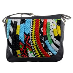 Multi-Colored Beaded Background Messenger Bag