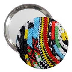 Multi-Colored Beaded Background 3  Handbag Mirror