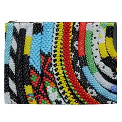 Multi-Colored Beaded Background Cosmetic Bag (XXL)