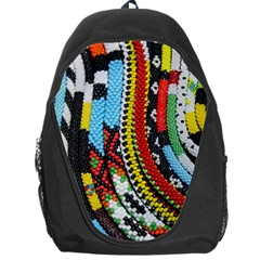 Multi Colored Beaded Background Backpack Bag