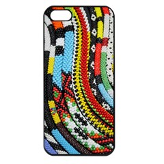 Multi-Colored Beaded Background Apple iPhone 5 Seamless Case (Black)