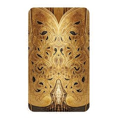Golden Brown Tooled Faux Leather Look Memory Card Reader (rectangular)
