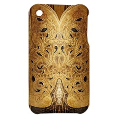Golden Brown Tooled Faux Leather Look Apple iPhone 3G/3GS Hardshell Case