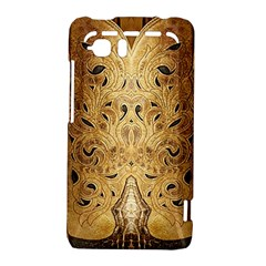 Golden Brown Tooled Faux Leather Look HTC Vivid / Raider 4G Hardshell Case