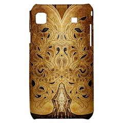 Golden Brown Tooled Faux Leather Look Samsung Galaxy S i9000 Hardshell Case