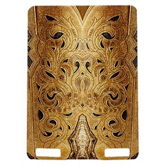 Golden Brown Tooled Faux Leather Look Kindle Touch 3G Hardshell Case