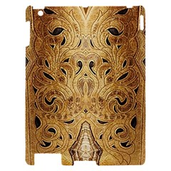 Golden Brown Tooled Faux Leather Look Apple iPad 2 Hardshell Case