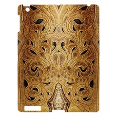 Golden Brown Tooled Faux Leather Look Apple iPad 3/4 Hardshell Case