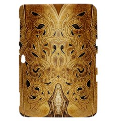 Golden Brown Tooled Faux Leather Look Samsung Galaxy Tab 8.9  P7300 Hardshell Case