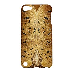 Golden Brown Tooled Faux Leather Look Apple Ipod Touch 5 Hardshell Case