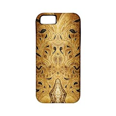 Golden Brown Tooled Faux Leather Look Apple iPhone 5 Classic Hardshell Case (PC+Silicone)