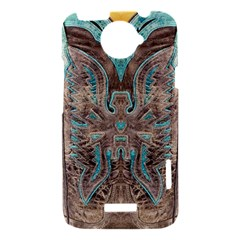 Turquoise and Gray Eagle Tooled Leather Look HTC One X Hardshell Case