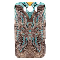 Turquoise and Gray Eagle Tooled Leather Look HTC Sensation XL Hardshell Case