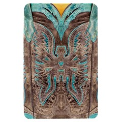 Turquoise and Gray Eagle Tooled Leather Look Kindle Fire Hardshell Case