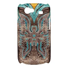 Turquoise and Gray Eagle Tooled Leather Look Samsung Galaxy Nexus S i9020 Hardshell Case