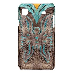 Turquoise and Gray Eagle Tooled Leather Look Samsung Galaxy S i9008 Hardshell Case