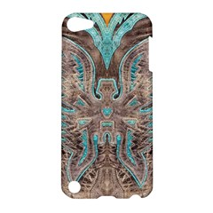 Turquoise And Gray Eagle Tooled Leather Look Apple Ipod Touch 5 Hardshell Case