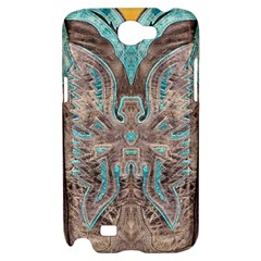 Turquoise and Gray Eagle Tooled Leather Look Samsung Galaxy Note 2 Hardshell Case