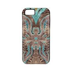 Turquoise And Gray Eagle Tooled Leather Look Apple Iphone 5 Classic Hardshell Case (pc+silicone)