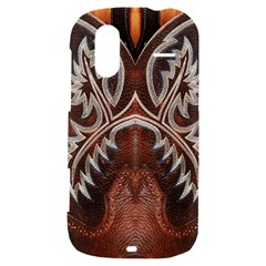 Brown and Black Tooled Leather Design Look HTC Amaze 4G Hardshell Case