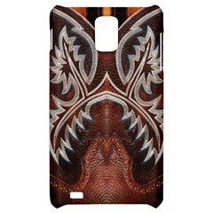 Brown and Black Tooled Leather Design Look Samsung Infuse 4G Hardshell Case