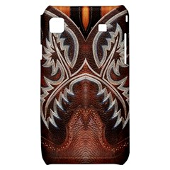 Brown and Black Tooled Leather Design Look Samsung Galaxy S i9000 Hardshell Case