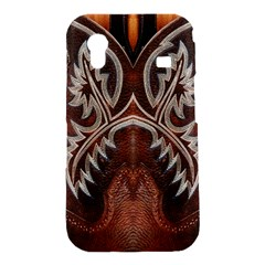 Brown and Black Tooled Leather Design Look Samsung Galaxy Ace S5830 Hardshell Case