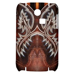 Brown and Black Tooled Leather Design Look Samsung S3350 Hardshell Case