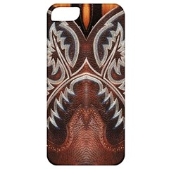 Brown and Black Tooled Leather Design Look Apple iPhone 5 Classic Hardshell Case