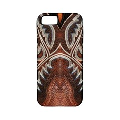 Brown and Black Tooled Leather Design Look Apple iPhone 5 Classic Hardshell Case (PC+Silicone)