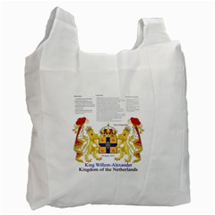 King Willem Single-sided Reusable Shopping Bag