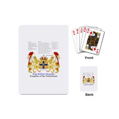 King Willem Playing Cards (mini)