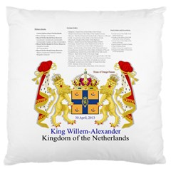 King Willem Large Cushion Case (Two Sides)