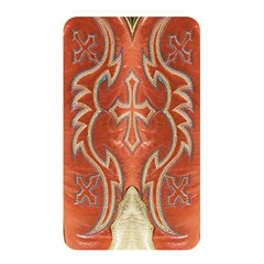 Orange and Cross Design on Leather Look Memory Card Reader (Rectangular)
