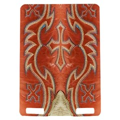 Orange and Cross Design on Leather Look Kindle Touch 3G Hardshell Case